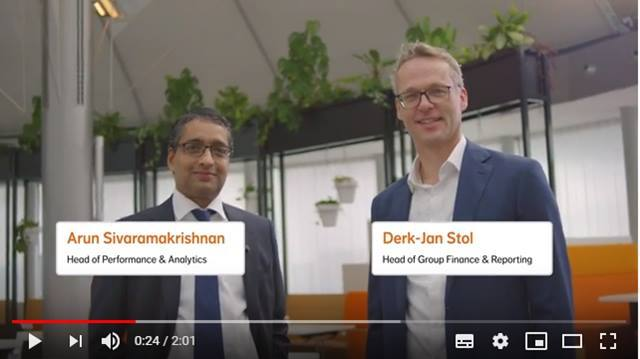 Video NN as a Finance employer - Head of Group Finance & Reporting Derk-Jan Stol en Head of Performance Analytics Arun Sivramakrishnan