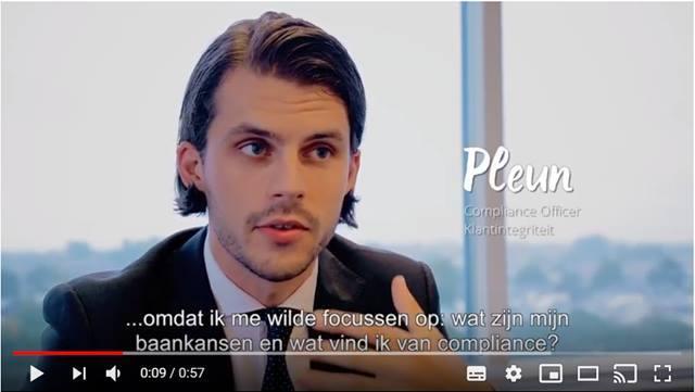 Video Compliance Officer Klantintegriteit Pleun zit goed bij de Volksbank