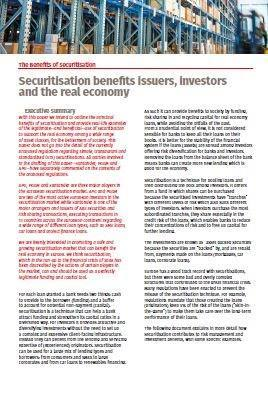 Cover The Benefits of Securitisation