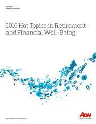 Cover 2016 Hot Topics in Retirement and Financial Well-Being