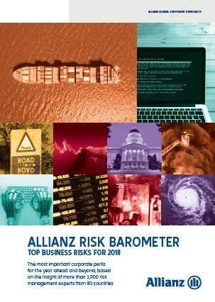 Cover Allianz Risk Barometer 2018