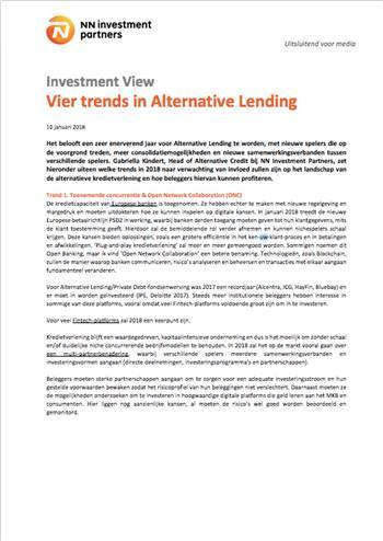 Cover Vier trends in Alternative Lending