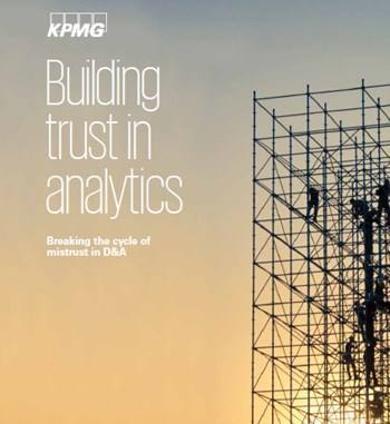 Cover Building trust in analytics