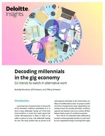 Cover Decoding millennials in the gig economy