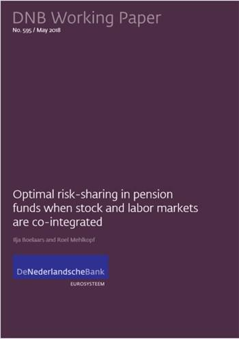 Cover Optimal risk-sharing in pension funds when stock and labor markets are co-integrated