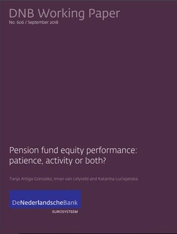 Cover 606 - Pension fund equity performance: Patience, activity or both?