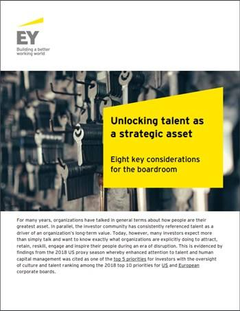 Cover Unlocking talent as a strategic asset