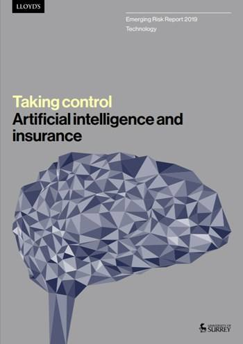 Cover Taking control: Artificial intelligence and insurance