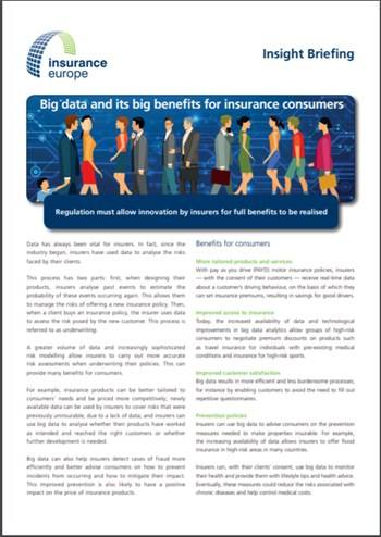 Cover Big data and its big benefits for consumers