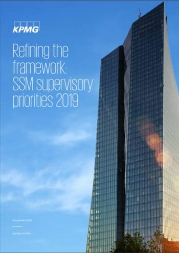Cover Refining the framework: SSM supervisory priorities 2019