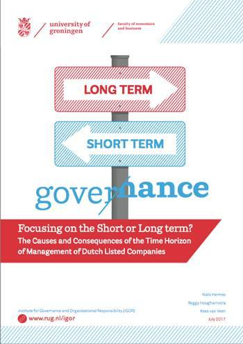 Cover Focusing on the short or long term?
