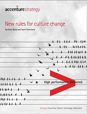 Cover New rules for culture change
