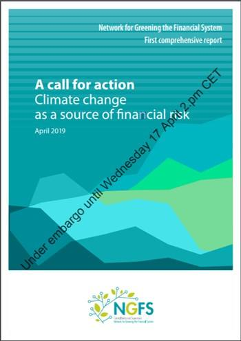 Cover A call for action Climate change as a source of financial risk