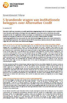 Cover 5 Brandende vragen van institutionele beleggers over Alternative Credit
