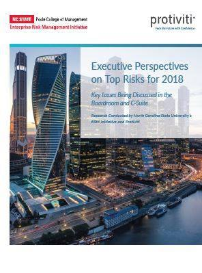 Cover Executive Perspectives on Top Risks 2018