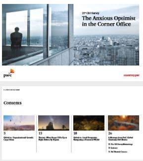 Cover PwC's 21ste CEO Survey