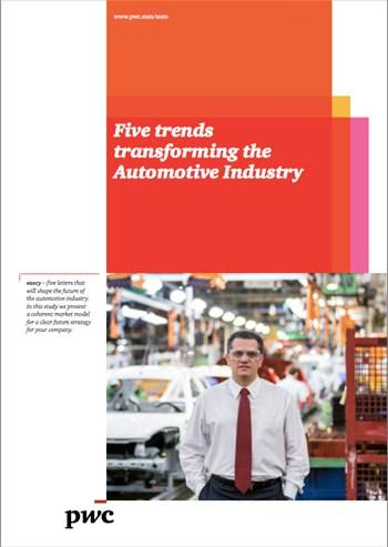 Cover Five trends transforming the Automotive Industry