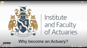 Video Why choose the Actuarial Profession?