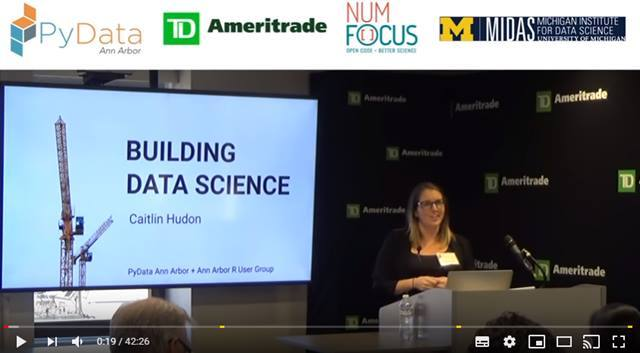 Cover Building Data Science || Caitlin Hudon