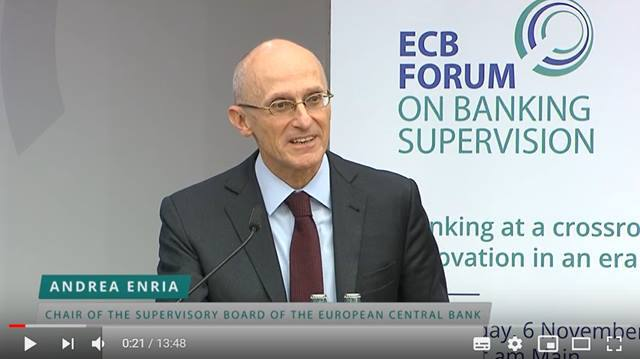 Video ECB Forum on Banking Supervision - Keynote speech