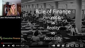 Video Financial Intelligence Lesson 20: World Class Finance Functions