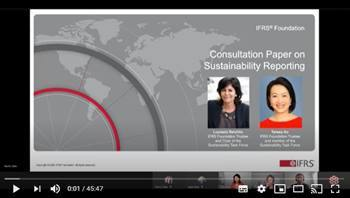 Video Consultation Paper on Sustainability Reporting