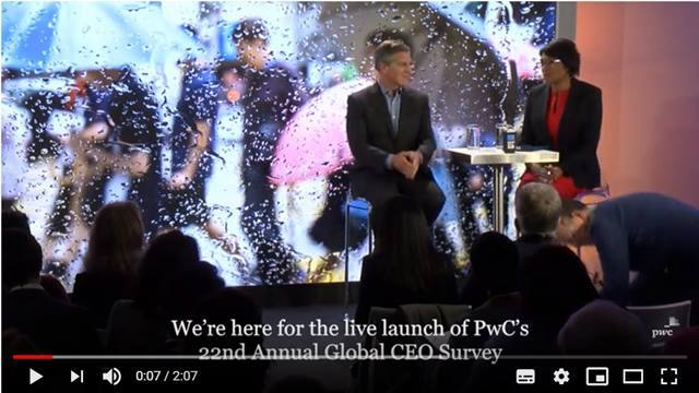 Cover Highlights from PwC's 22nd Annual Global CEO Survey launch