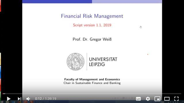 Cover Financial Risk Management - Lecture 1