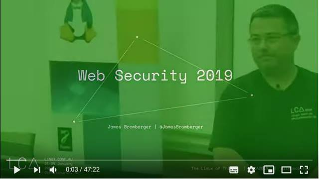 Cover Web Security 2019